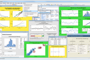 Screenshot der Software Minitab 17